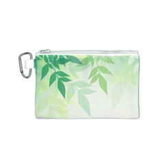 Spring Leaves Nature Light Canvas Cosmetic Bag (s) by Simbadda