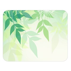 Spring Leaves Nature Light Double Sided Flano Blanket (large)  by Simbadda