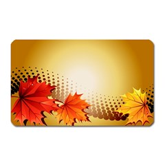 Background Leaves Dry Leaf Nature Magnet (rectangular) by Simbadda