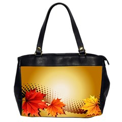 Background Leaves Dry Leaf Nature Office Handbags (2 Sides)  by Simbadda