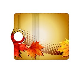 Background Leaves Dry Leaf Nature Kindle Fire Hdx 8 9  Flip 360 Case by Simbadda