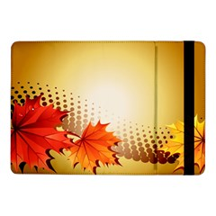 Background Leaves Dry Leaf Nature Samsung Galaxy Tab Pro 10 1  Flip Case by Simbadda