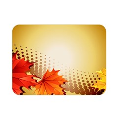 Background Leaves Dry Leaf Nature Double Sided Flano Blanket (mini)  by Simbadda
