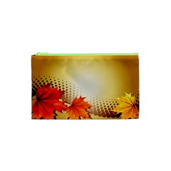 Background Leaves Dry Leaf Nature Cosmetic Bag (xs) by Simbadda