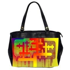 Binary Binary Code Binary System Office Handbags (2 Sides)  by Simbadda