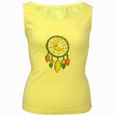 Cute Hand Drawn Dreamcatcher Illustration Women s Yellow Tank Top by TastefulDesigns