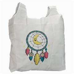 Cute Hand Drawn Dreamcatcher Illustration Recycle Bag (two Side)  by TastefulDesigns
