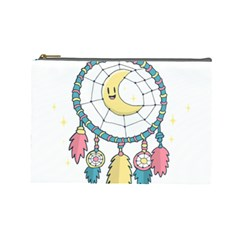 Cute Hand Drawn Dreamcatcher Illustration Cosmetic Bag (large)  by TastefulDesigns