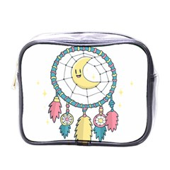 Cute Hand Drawn Dreamcatcher Illustration Mini Toiletries Bags by TastefulDesigns