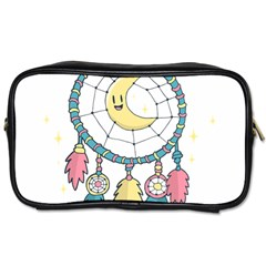 Cute Hand Drawn Dreamcatcher Illustration Toiletries Bags by TastefulDesigns