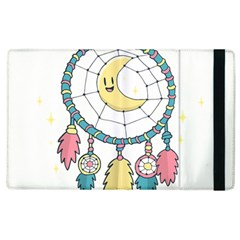 Cute Hand Drawn Dreamcatcher Illustration Apple Ipad 3/4 Flip Case by TastefulDesigns