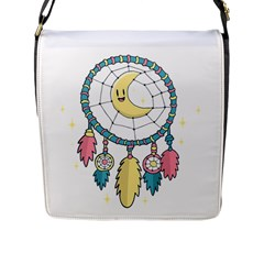 Cute Hand Drawn Dreamcatcher Illustration Flap Messenger Bag (l)  by TastefulDesigns