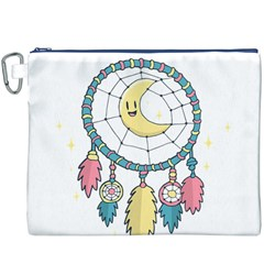 Cute Hand Drawn Dreamcatcher Illustration Canvas Cosmetic Bag (xxxl) by TastefulDesigns