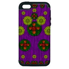 Buddha Blessings Fantasy Apple Iphone 5 Hardshell Case (pc+silicone) by pepitasart