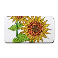 Sunflowers Flower Bloom Nature Medium Bar Mats by Simbadda