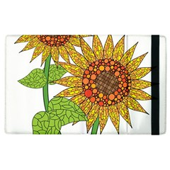 Sunflowers Flower Bloom Nature Apple Ipad 3/4 Flip Case by Simbadda