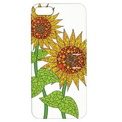 Sunflowers Flower Bloom Nature Apple Iphone 5 Hardshell Case With Stand by Simbadda