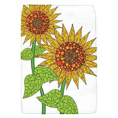 Sunflowers Flower Bloom Nature Flap Covers (s)  by Simbadda