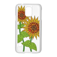 Sunflowers Flower Bloom Nature Samsung Galaxy S5 Case (white) by Simbadda