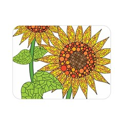 Sunflowers Flower Bloom Nature Double Sided Flano Blanket (mini)  by Simbadda
