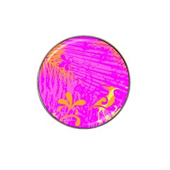 Spring Tropical Floral Palm Bird Hat Clip Ball Marker (4 Pack) by Simbadda