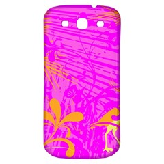 Spring Tropical Floral Palm Bird Samsung Galaxy S3 S Iii Classic Hardshell Back Case by Simbadda