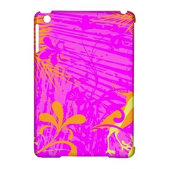Spring Tropical Floral Palm Bird Apple Ipad Mini Hardshell Case (compatible With Smart Cover) by Simbadda