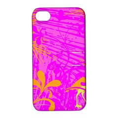 Spring Tropical Floral Palm Bird Apple Iphone 4/4s Hardshell Case With Stand by Simbadda