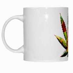 Marijuana Leaf Bright Graphic White Mugs by Simbadda