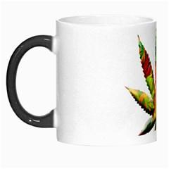 Marijuana Leaf Bright Graphic Morph Mugs by Simbadda