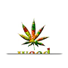Marijuana Leaf Bright Graphic Plate Mats by Simbadda
