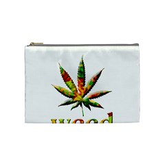 Marijuana Leaf Bright Graphic Cosmetic Bag (medium)  by Simbadda