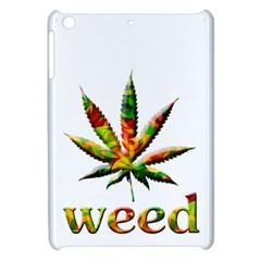 Marijuana Leaf Bright Graphic Apple Ipad Mini Hardshell Case by Simbadda