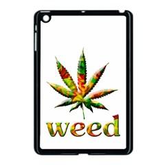 Marijuana Leaf Bright Graphic Apple Ipad Mini Case (black) by Simbadda