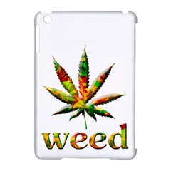 Marijuana Leaf Bright Graphic Apple Ipad Mini Hardshell Case (compatible With Smart Cover) by Simbadda