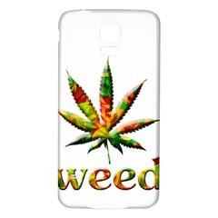 Marijuana Leaf Bright Graphic Samsung Galaxy S5 Back Case (white) by Simbadda