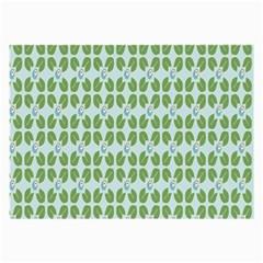 Leaf Flower Floral Green Large Glasses Cloth (2 Side) by Alisyart