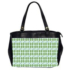 Leaf Flower Floral Green Office Handbags (2 Sides)  by Alisyart