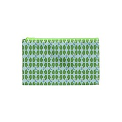 Leaf Flower Floral Green Cosmetic Bag (xs) by Alisyart
