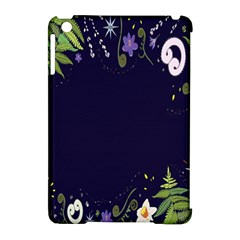 Spring Wind Flower Floral Leaf Star Purple Green Frame Apple Ipad Mini Hardshell Case (compatible With Smart Cover) by Alisyart