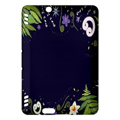 Spring Wind Flower Floral Leaf Star Purple Green Frame Kindle Fire Hdx Hardshell Case by Alisyart