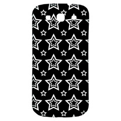 Star Black White Line Space Samsung Galaxy S3 S Iii Classic Hardshell Back Case by Alisyart