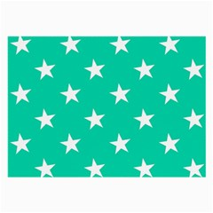Star Pattern Paper Green Large Glasses Cloth by Alisyart
