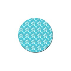 Star Blue White Line Space Sky Golf Ball Marker by Alisyart
