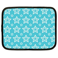 Star Blue White Line Space Sky Netbook Case (large) by Alisyart