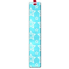 Star Blue White Line Space Sky Large Book Marks by Alisyart