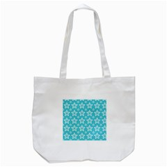 Star Blue White Line Space Sky Tote Bag (white) by Alisyart