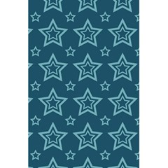 Star Blue White Line Space 5 5  X 8 5  Notebooks by Alisyart