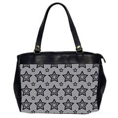 Star Grey Black Line Space Office Handbags (2 Sides)  by Alisyart