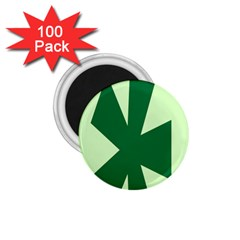 Starburst Shapes Large Circle Green 1 75  Magnets (100 Pack)  by Alisyart
